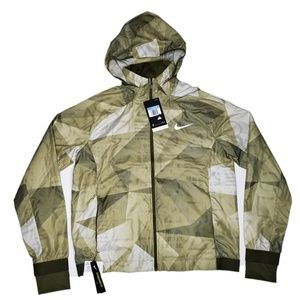 Nike Shield Running Jacket Reflective M Green